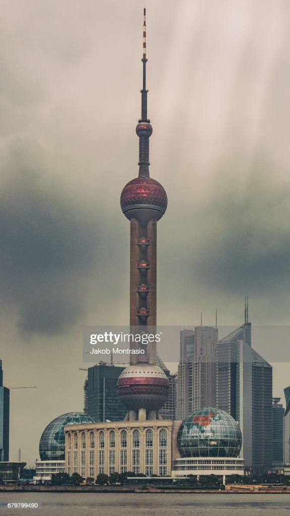 Shanghai's Oriental Pearl TV Tower : Stock Photo