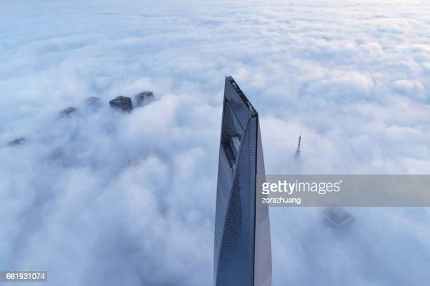 Shanghai's Skyscraper in the Thick Fog, China
