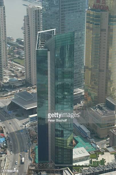 Shangri La Hotel Aurora Plaza City Group Bank Shanghai Sicht auf Stadtteil Pudong Blick vom Oriental Pearl Tower Stadtteil Pudong Shanghai China...