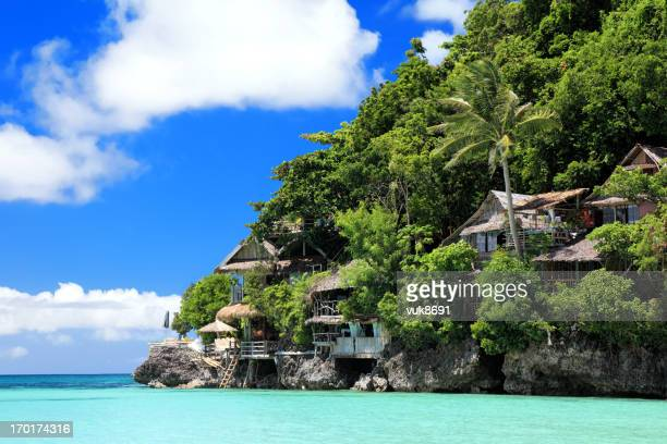shangri the resort - philippines stock pictures, royalty-free photos & images