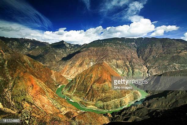 shangri-la, yunnan, china, strange peaks - provinz yunnan stock-fotos und bilder