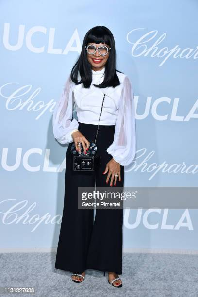 Shani James arrives at the 2019 Hollywood For Science Gala at Private Residence on February 21 2019 in Los Angeles California