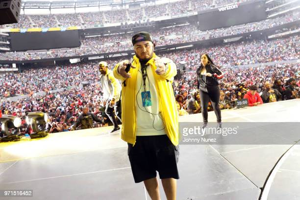 Shani Kulture DJ Juanyto and Laura Stylez attend Summer Jam 2018 at MetLife Stadium on June 10 2018 in East Rutherford New Jersey