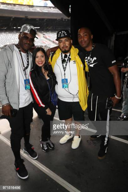 Shani Kulture Laura Stylez DJ Juanyto and Mic Fox attend Summer Jam 2018 at MetLife Stadium on June 10 2018 in East Rutherford New Jersey