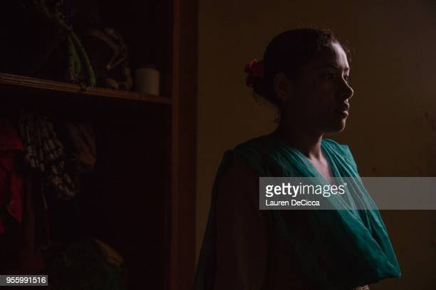 Shani stand in the wardrobe of the Casa Nepal safe house on May 8 2018 in Kathmandu Nepal Shanti has lived at the shelter for 2 months She was in an...