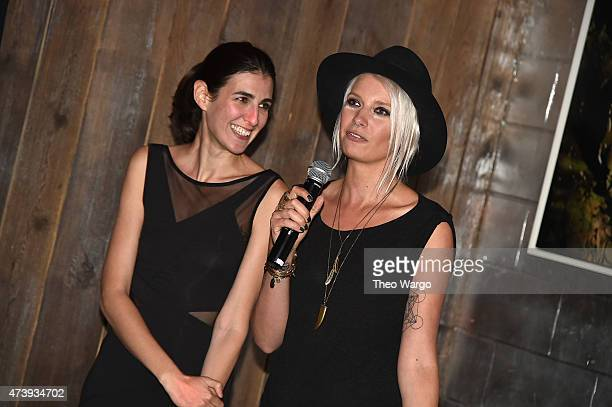 Shania Danzinger and Katarina Benzova attend Animals Asia Let A Bear Shit In The Woods Campaign at the Electric Room at Dream Downtown on May 18 2015...