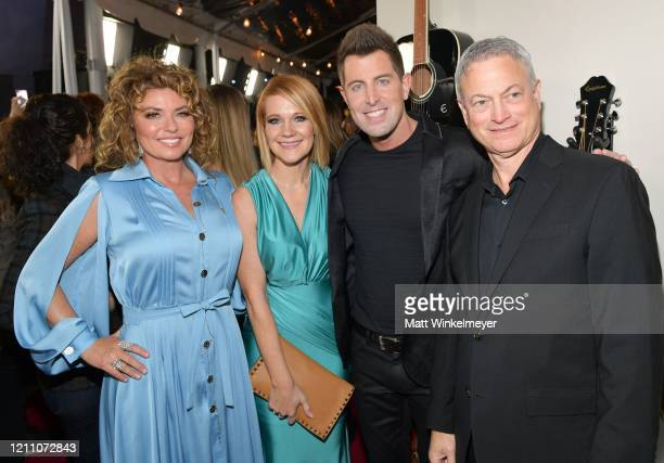 """Shania Twain, Adrienne Camp, Jeremy Camp and Gary Sinise attend the premiere of Lionsgate's """"I Still Believe"""" at ArcLight Hollywood on March 07, 2020..."""