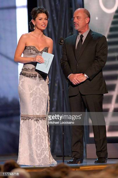 Shania Twain and Billy Joel presenters during The 39th Annual CMA Awards Show at Madison Square Garden in New York City New York United States