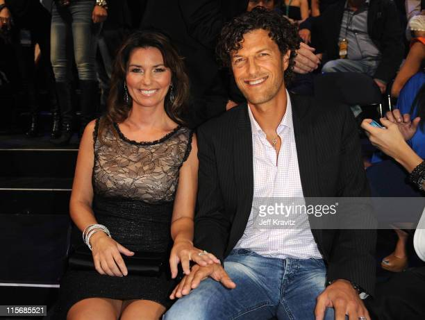 Shania Twain and Frederic Thiebaud attend the 2011 CMT Music Awards at the Bridgestone Arena on June 8 2011 in Nashville Tennessee