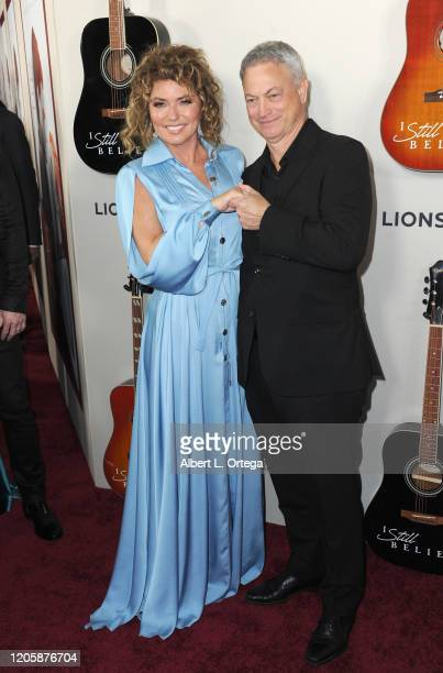 Shania Twain and Gary Sinise arrive for the Premiere Of Lionsgate's I Still Believe held at ArcLight Hollywood on March 7 2020 in Hollywood California