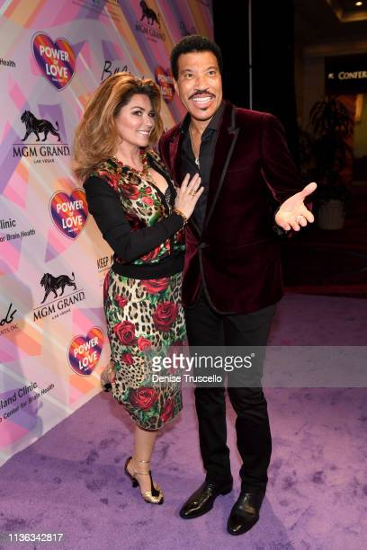 Shania Twain and Lionel Richie attend the 23rd annual Keep Memory Alive 'Power of Love Gala' benefit for the Cleveland Clinic Lou Ruvo Center for...