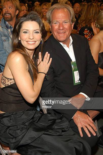 Shania Twain and Luke Lewis of Mercury Records during 38th Annual Academy of Country Music Awards Backstage and Audience at Mandalay Bay Events...