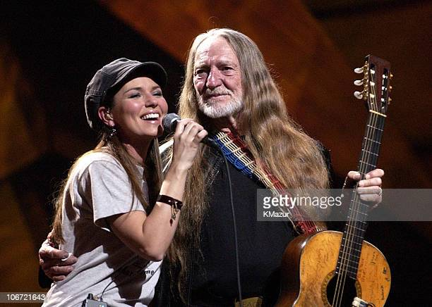 """Shania Twain and Willie Nelson during """"Willie Nelson and Friends: Live and Kickin'"""" Premieres on USA Network May 26, 2003 - Show at Beacon Theatre in..."""