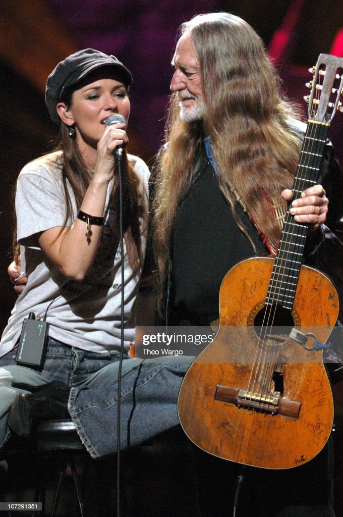 Shania Twain and Willie Nelson during 'Willie Nelson and Friends: Live and Kickin'' Premieres on USA Network May 26, 2003 - Show at Beacon Theatre in New York City, New York, United States.
