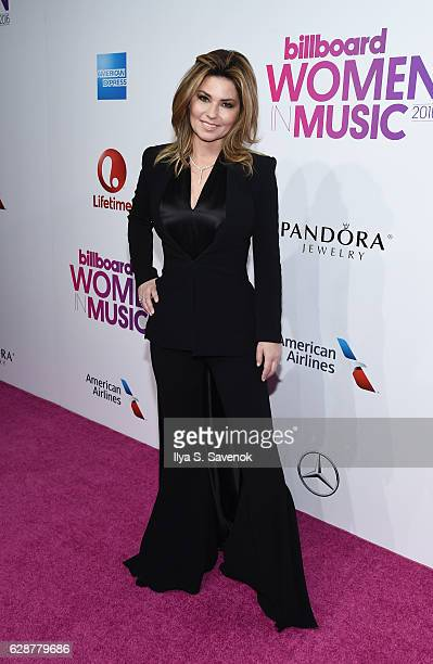 Shania Twain attends Billboard Women In Music 2016 Airing December 12th On Lifetime at Pier 36 on December 9 2016 in New York City