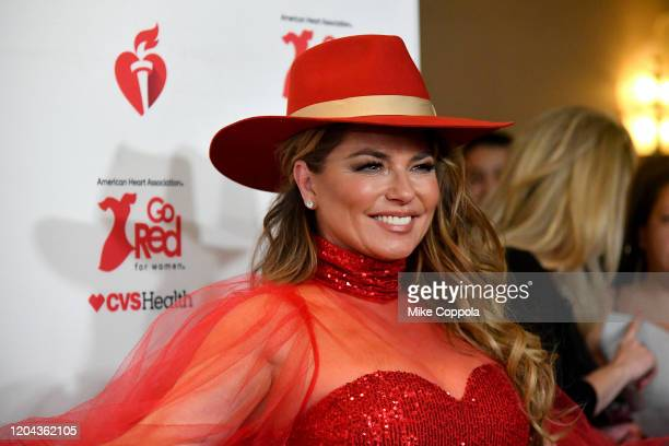 Shania Twain attends the American Heart Association's Go Red for Women Red Dress Collection 2020 at Hammerstein Ballroom on February 05, 2020 in New...