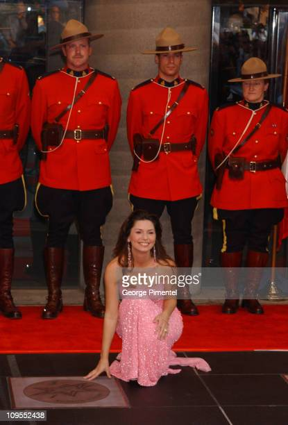 Shania Twain during Canada's Walk of Fame at Roy Thomson Hall in Toronto Canada