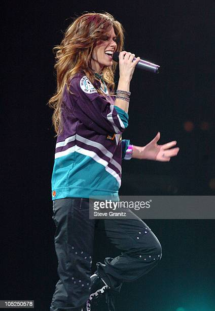Shania Twain during Shania Twain in Concert at Arrowhead Pond at Anaheim Pond in Anaheim CA United States
