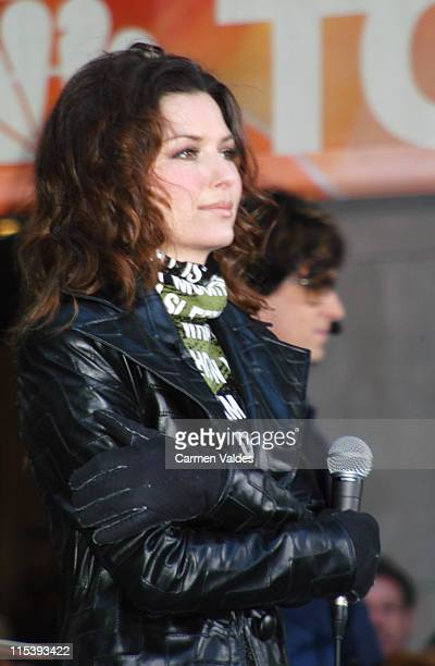 Shania Twain during Shania Twain Performs on The Today Show November 29 2002 at NBC Studios Rockefeller Center in New York City New York United States