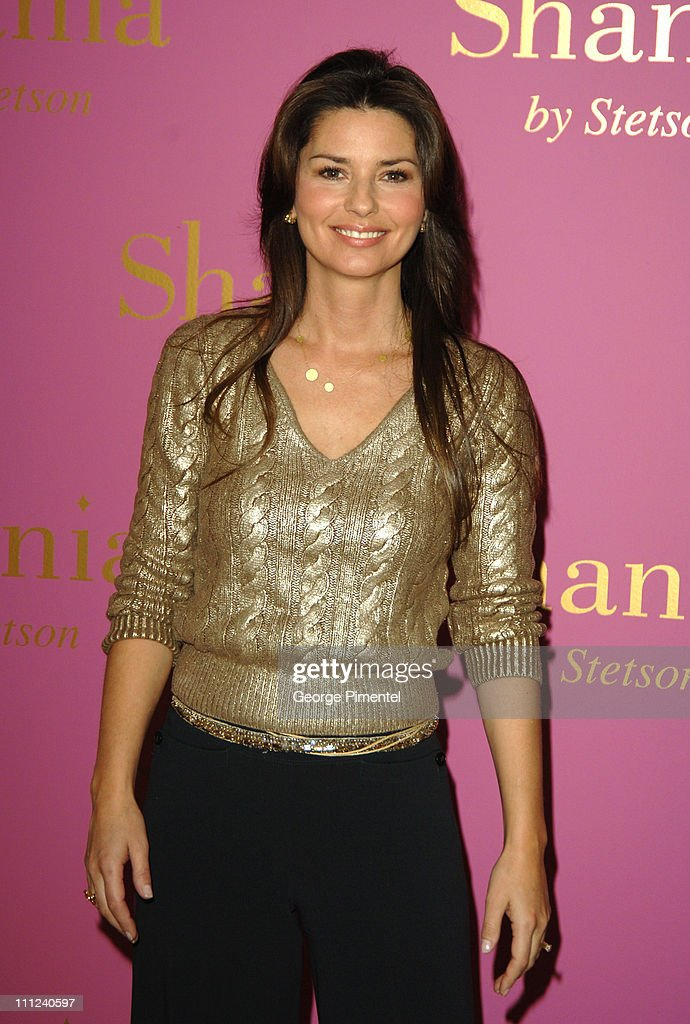"Shania Twain Photocall To Promote ""Shania by Stetson"" Perfume"
