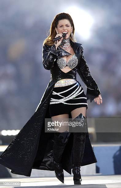 Shania Twain during Super Bowl XXXVII ATT Wireless Super Bowl XXXVII Halftime Show at Qualcomm Stadium in San Diego California United States