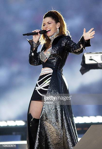 Shania Twain during Super Bowl XXXVII ATT Wireless Super Bowl XXXVII Halftime Show at Qualcomm Stadium in San Diego California United States