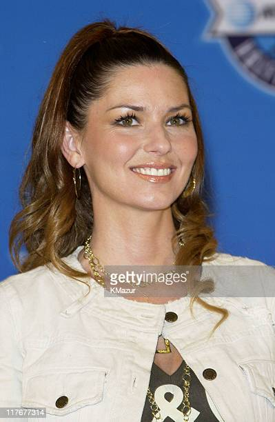 Shania Twain during Super Bowl XXXVII ATT Wireless Super Bowl XXXVII Halftime Show Media Conference Agenda at San Diego Convention Center in San...
