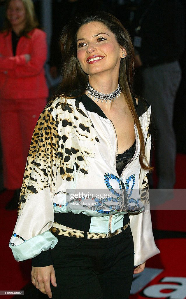 Shania Twain during The 2004 Brit Awards - Arrivals at Earls Court in London, Great Britain.