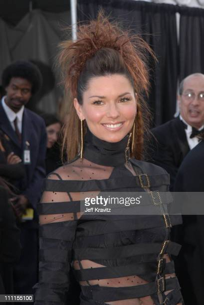 Shania Twain during The 30th Annual American Music Awards - Arrivals at Shrine Auditorium in Los Angeles, California, United States.
