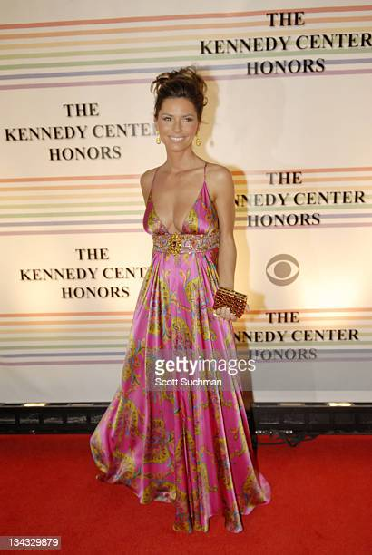Shania Twain in a dress by Marc Bouwer arrives at the 2006 Kennedy Center Honors Sunday night in Washington DC The 29th Annual Kennedy Centers Honors...
