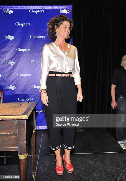 Shania Twain makes an exclusive appearance for her book signing for From This Moment On at Indigo Manulife Centre on May 9 2011 in Toronto Canada