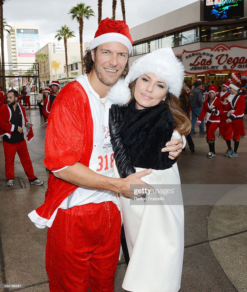 Shania Twain Serves as Grand Marshal for the 9th Annual Opportunity Village Great Santa Run in Downtown Las Vegas