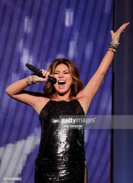 Shania Twain performs as part of her NOW tour at Spark Arena on December 18, 2018 in Auckland, New Zealand.