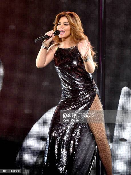 Shania Twain performs at the Staples Center on August 3 2018 in Los Angeles California