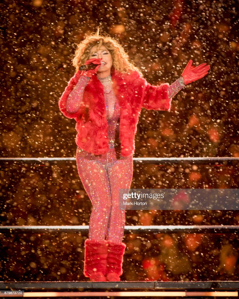 Shania Twain performs during the half-time show at the 105th Grey Cup Championship Game between the Toronto Argonauts and the Calgary Stampeders at TD Place Stadium on November 26, 2017 in Ottawa, Canada.