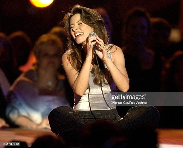 Shania Twain performs 'Forever and for Always' during 38th Annual Academy of Country Music Awards Show at Mandalay Bay Event Center in Las Vegas...