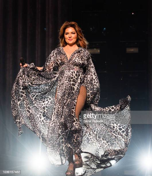 Shania Twain performs live on stage at The SSE Hydro on September 19 2018 in Glasgow Scotland