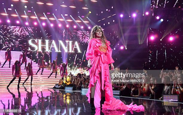 Shania Twain performs onstage during the 2019 American Music Awards at Microsoft Theater on November 24, 2019 in Los Angeles, California.
