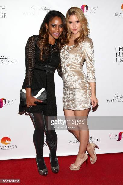 Shanica Knowles and Brittany Underwood attend the Premiere Of MarVista Entertainment's Wedding Wonderland on November 12 2017 in Los Angeles...