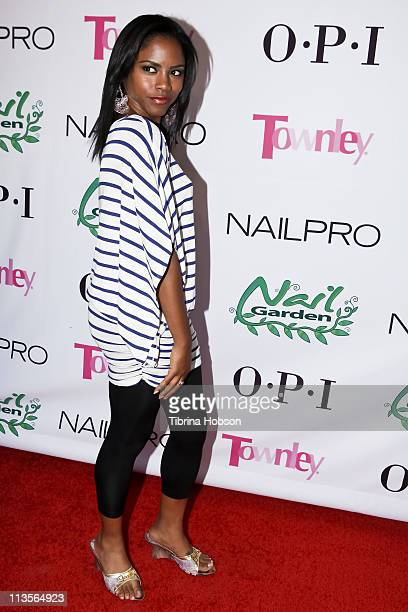 Shanica Knowles arrives to the Nail Garden Brentwood Opening Party 2nd Annual Beauty For A Cause Spring Toy Drive at Nail Garden Brentwood on May 2...