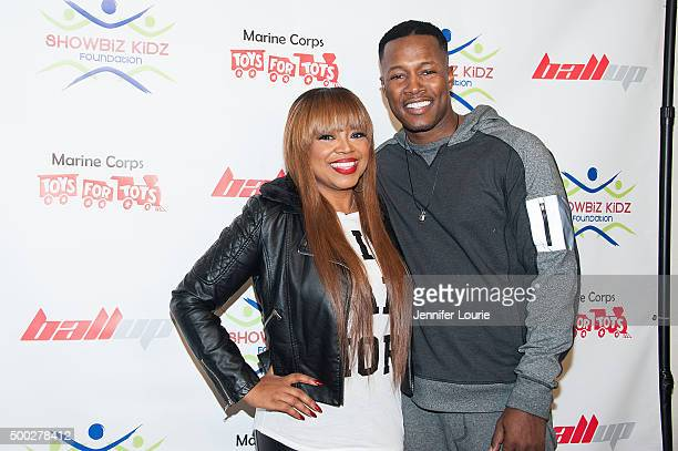 Shanice Alexander and Flex Alexander arrive at the Marines Toys for Tots Celebrity Basketball Game/Toy Drive Fundraiser Presented By ShowBiz Kidz...