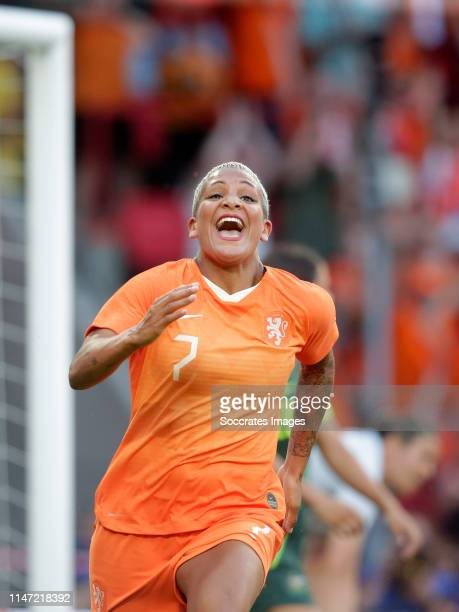 Shanice van de Sanden of Holland Women celebrates 1-0 during the International Friendly Women match between Holland v Australia at the Philips...