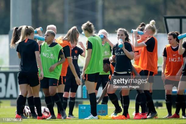 Shanice van de Sanden of Holland Women, Jackie Groenen of Holland Women, Vivianne Miedema of Holland Women, Siri Worm of Holland Women, Danique...