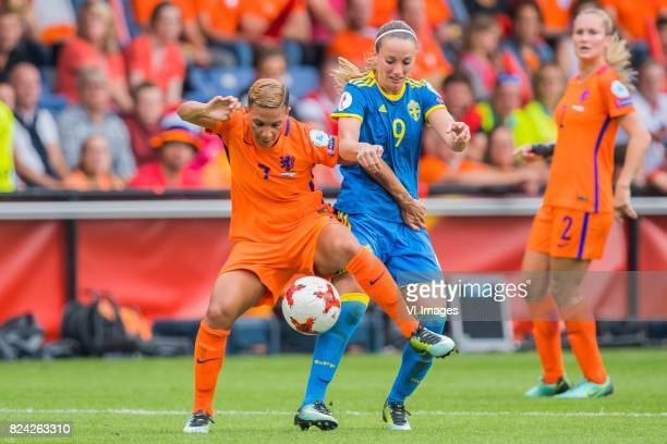 Shanice van de Sanden of Holland Women Kosovare Asllani of Sweden women during the UEFA WEURO 2017 quarter finale match between The Netherlands and...