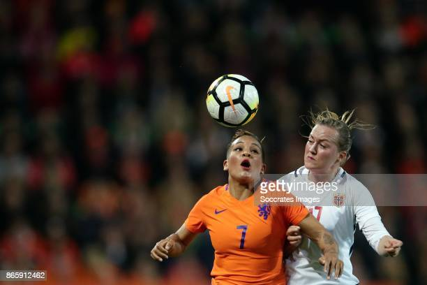 Shanice van de Sanden of Holland Women Kristine Minde of Norway Women during the World Cup Qualifier Women match between Holland v Norway at the...