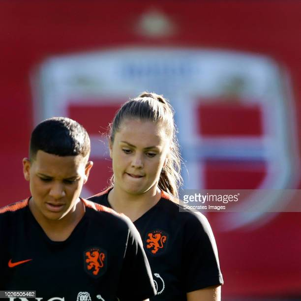 Shanice van de Sanden of Holland Women Lieke Martens of Holland Women during the Training Holland Women in Oslo at the Intility Arena on September 3...