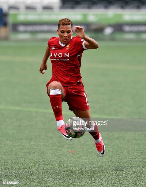 Shanice Van De Sanden of Liverpool Ladies during a WSL 1 match between Liverpool Ladies and Manchester City Women at Select Security Stadium on June...