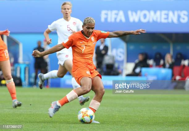 Shanice van de Sanden of Netherlands during the 2019 FIFA Women's World Cup France group E match between Netherlands and Canada at Stade Auguste...
