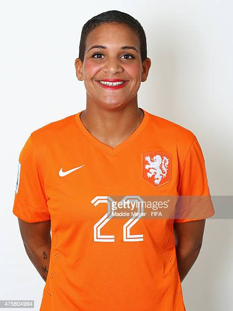 Shanice Van De Sanden of Netherlands during the FIFA Women's World Cup 2015 portrait session at the Delta Edmonton South on June 3 2015 in Edmonton...