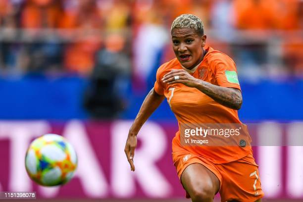 Shanice van de Sanden of Netherlands women during the FIFA Women's World Cup France 2019 group E match between The Netherlands and Canada at Stade...